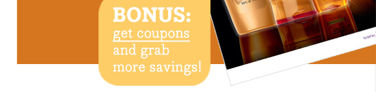 BONUS: get coupons and grab more savings!
