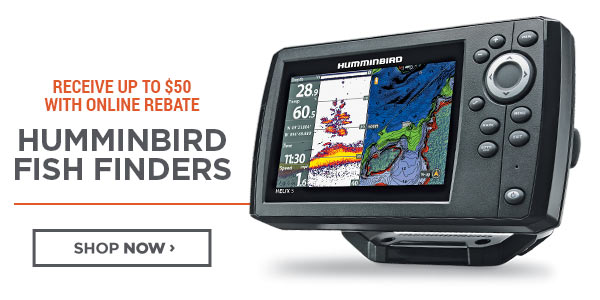 Humminbird Fish Finders - Receive Up To $50 With Online Rebate