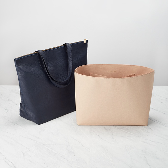 The Tote Insert and The Classic Zipper Tote