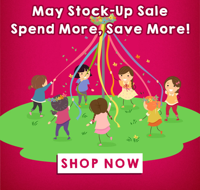 May Stock-Up Sale Spend More, Save More!