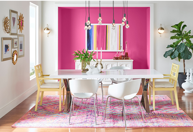 May Color Of The Month Is Exuberant Pink SW 6840 - View More Rooms
