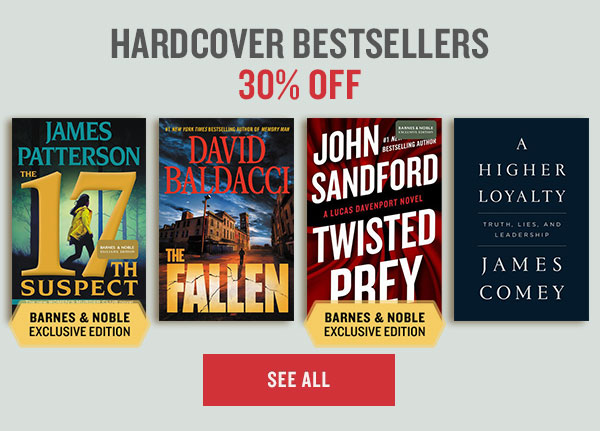 HARDCOVER BESTSELLERS 30% OFF | SEE ALL
