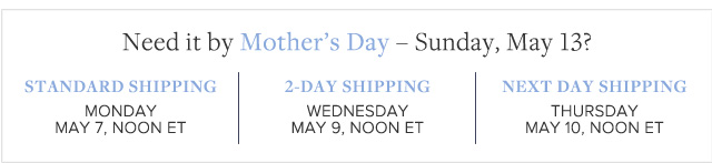 NEED IT BY MOTHER'S DAY