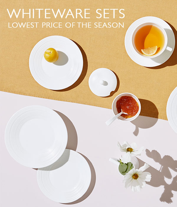 Whiteware Sets Lowest Price of the Season