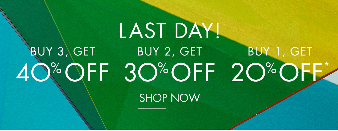 Last Day! Buy 3, Get 40% Off - Buy 2, Get 30% Off - Buy 1, Get 20% Off - Shop Now