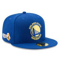 Men's Golden State Warriors New Era Royal 2017 NBA Finals Bound Side Patch 59FIFTY Fitted Hat