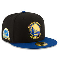 Men's Golden State Warriors New Era Black/Royal 2017 NBA Finals Champions 5X 59FIFTY Fitted Hat