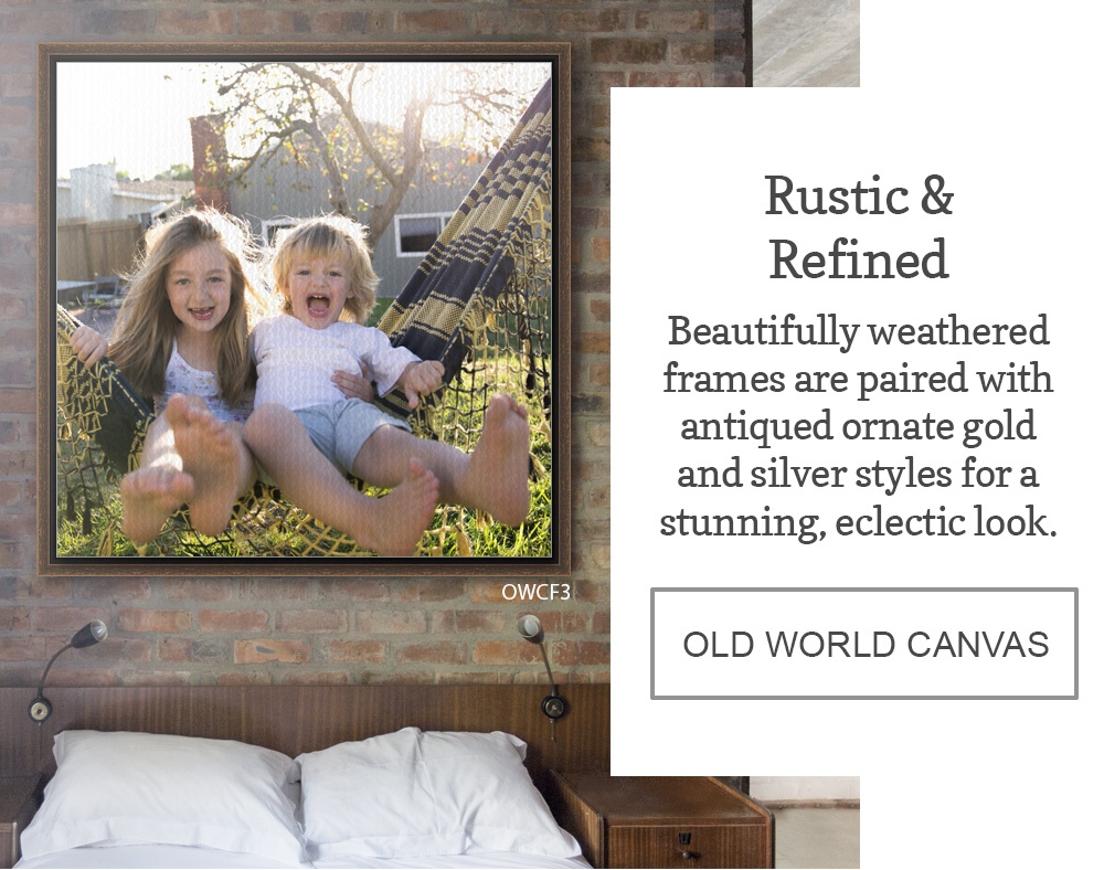 Beautifully weathered frames are paired with antiqued ornate gold and silver styles for a stunning, eclectic look.