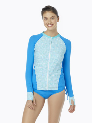 BEACH HOUSE AVA ZIP FRONT RASH GUARD - SEA LA VIE