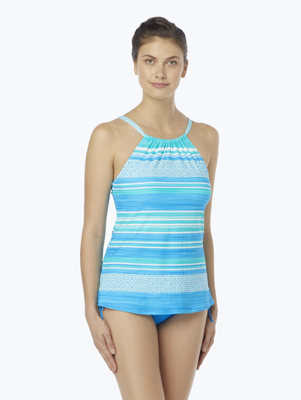 BEACH HOUSE BLAIR HIGH NECK TANKINI TOP - SEA LA VIE