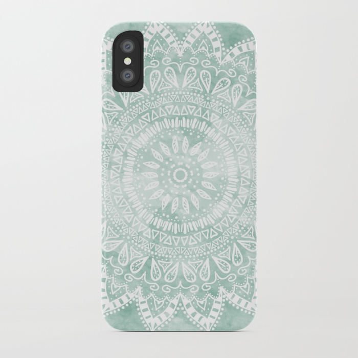 99 BOHEMIAN FLOWER MANDALA IN TEAL by Nika