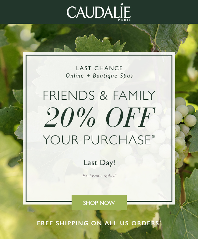Friends and Family 20% Off