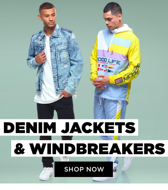Shop Men's Buyer's Picks Denim Jackets and Windbreakers
