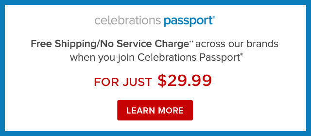 passport For a limited time get Free Shipping No Service Charges for $19.99/year. LEARN MORE