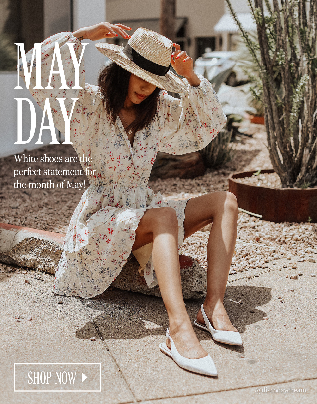 MAY DAY. White shoes are the perfect statement for the month of May! SHOP NOW