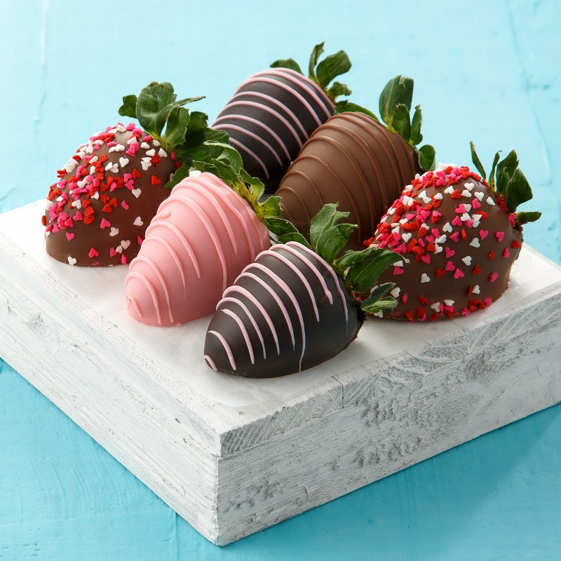 Half-Dozen Hand-Dipped Love Berries. SHOP NOW.