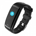 CD09 Smart Bracelet Touch Color Screen Sports Wrist Watch Heart Rate Blood Pressure Monitoring - Black