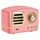 Dosmix HM11 Colorful Vintage Mini Portable Handsfree Wireless Bluetooth V4.0 Speaker with Microphone - Pink