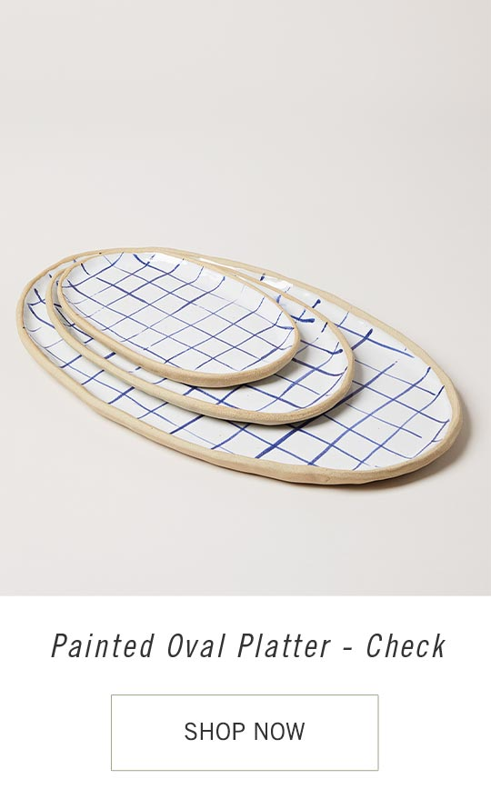 Painted Oval Platter