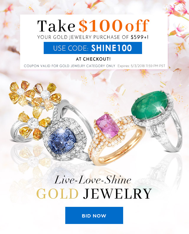 Live-Love-Shine Gold Jewelry + $100 OFF