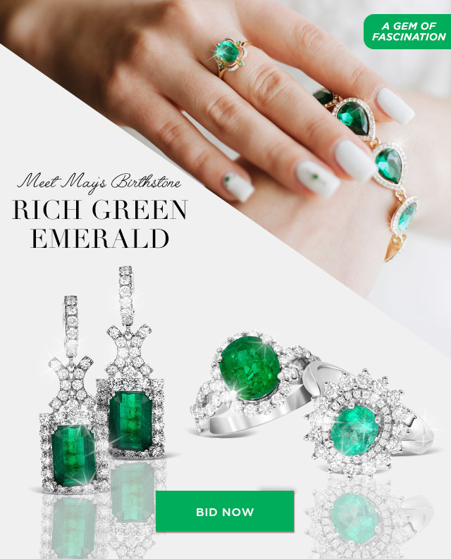 Meet May's Birthstone Rich Green Emerald