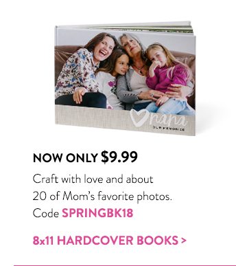 Now only $9.99 | Craft with love and about 20 of Mom's favorite photos. | Code SPRINGBK18 | 8x11 hardcover books >
