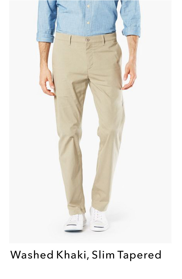 SHOP OUR WASHED KHAKI IN A SLIM TAPERED FIT