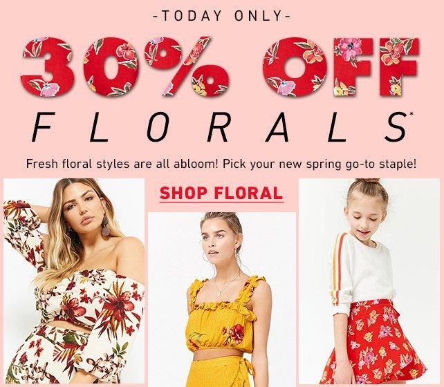 30% OFF Florals** - Shop Floral