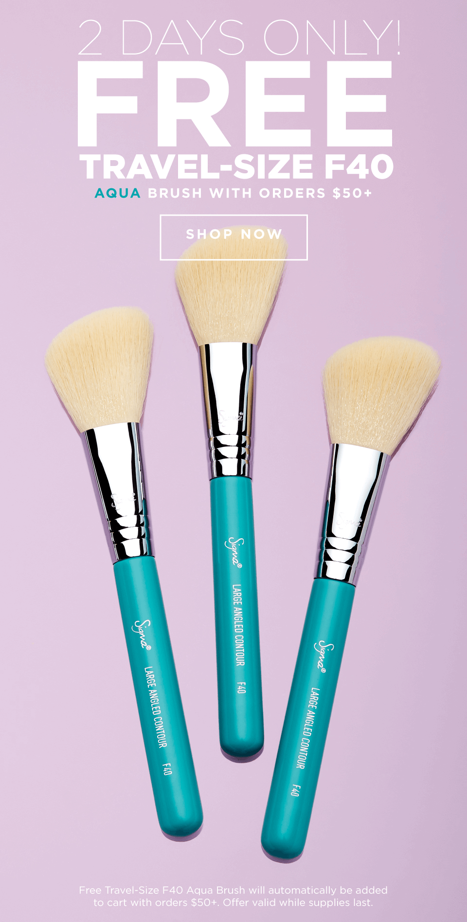 Free Travel-Size F40 Aqua Brush with orders $50+