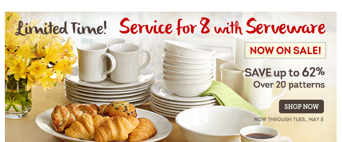 Service for 8 with Serveware - Filigree
