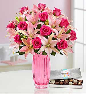 Magnificent Pink Rose & Lily SHOP NOW