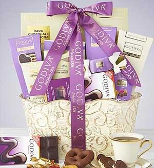 Godiva Sweets Gift Basket SHOP NOW