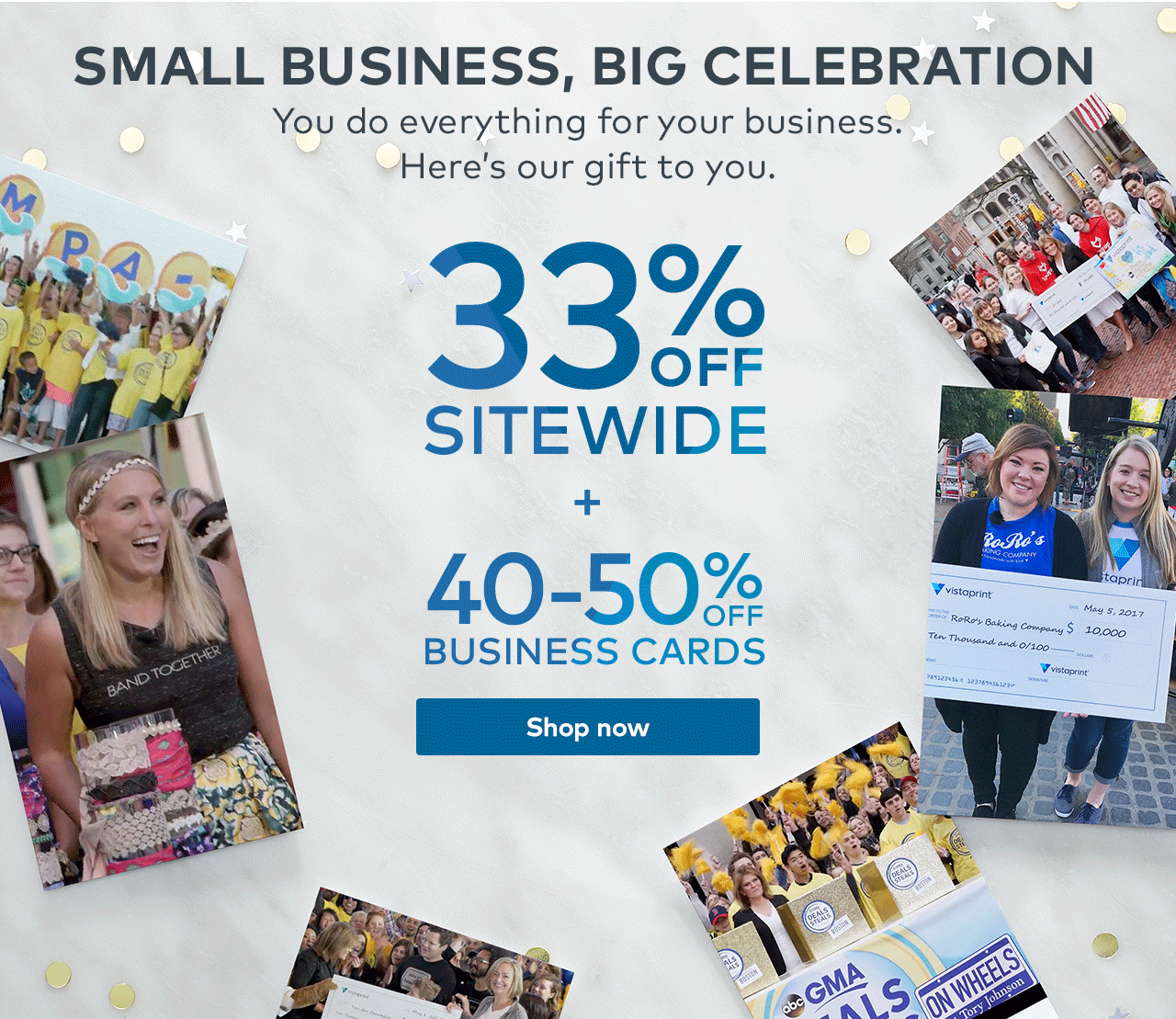 Vistaprint: 33% off sitewide + 40-50% off business cards = more ...