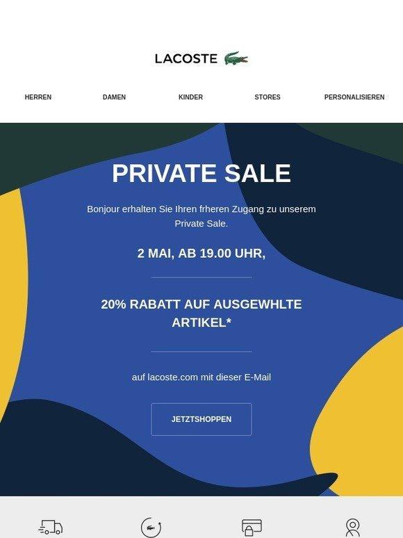 96860c6b1c LACOSTE: Private Sale: Jetzt geht es los! | Milled