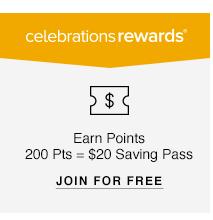 Celebrations Rewards: Earn Points