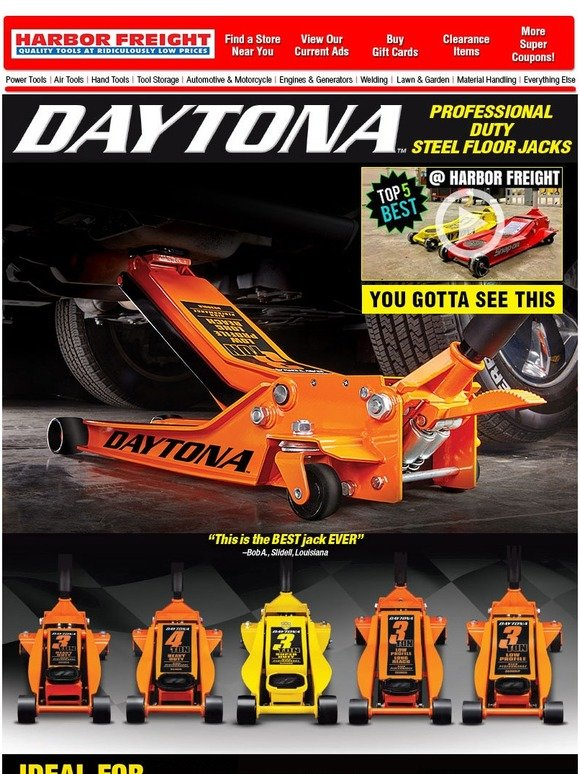 Harbor Freight New Product Alert Daytona Professional