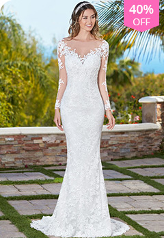 323f089b7bf Lace Bateau Neckline Illusion Back Mermaid Wedding Dress With Lace  Appliques   BeadingsUS  189.59 US  315.99