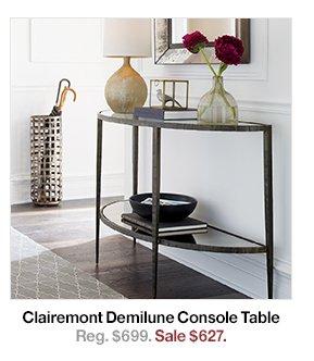 Superior Clairmont Demilune Console Tables