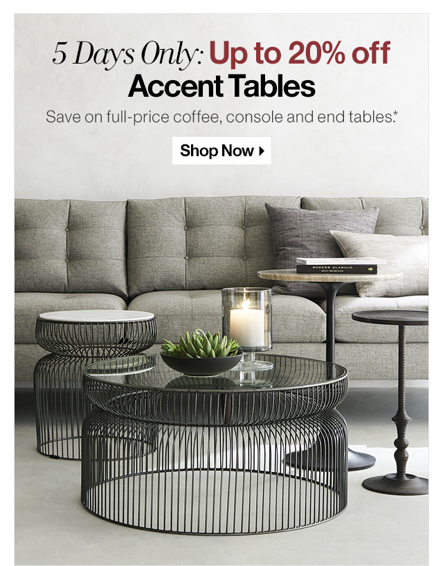 Peachy Crate And Barrel The Accent Table Sale Starts Now Up To 20 Beutiful Home Inspiration Xortanetmahrainfo
