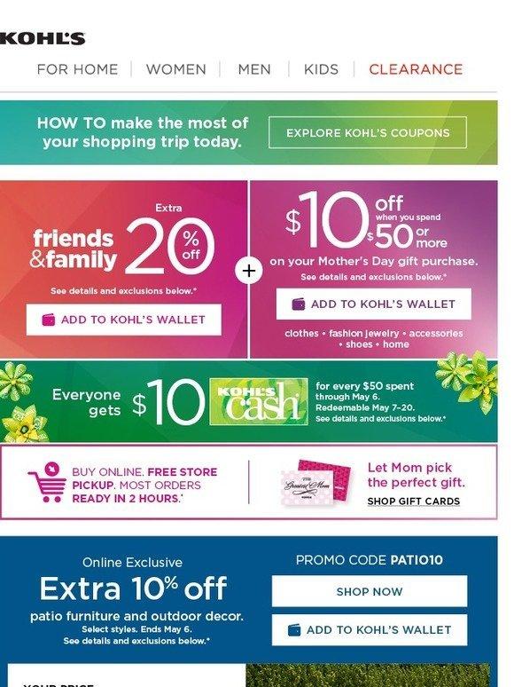 6dfefa8d9 Kohl's: 20% off + $10 off Gifts for Mom + Kohl's Cash = YES! | Milled