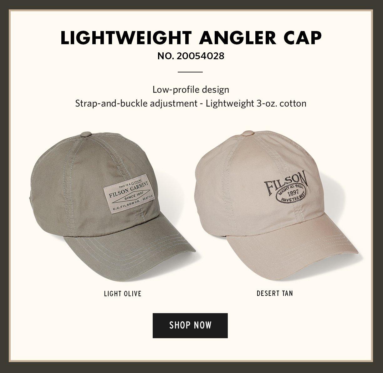 LIGHTWEIGHT ANGLER CAP. SHOP NOW 981bf430d96