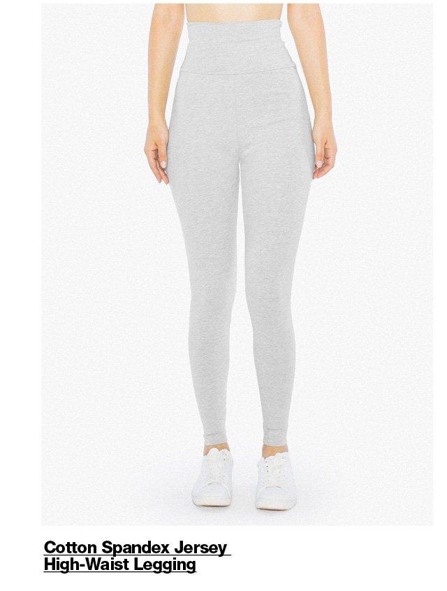 Cotton Spandex Jersey High-Waist Legging