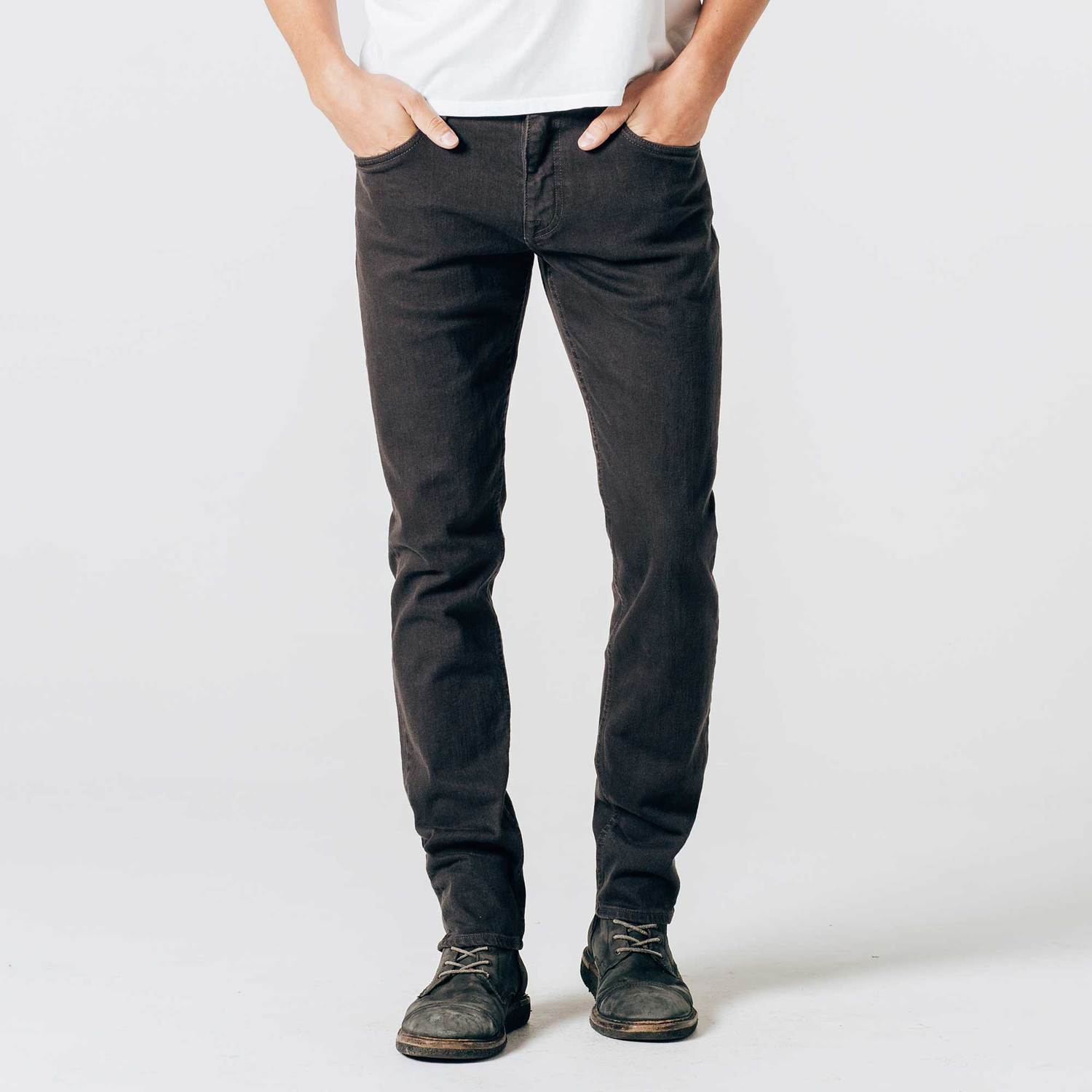 Skinny-Slim 12.25 oz. Stretch Denim Jeans in Charcoal