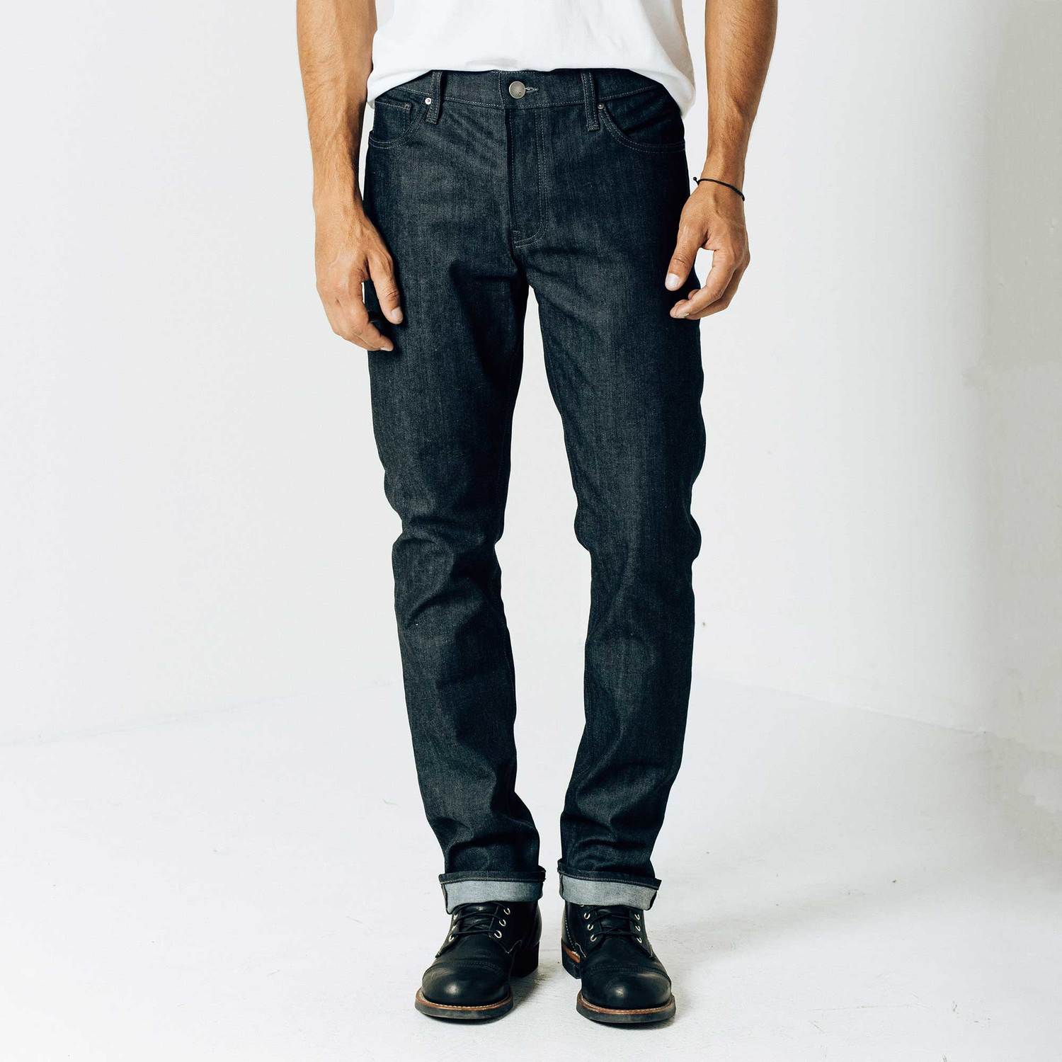 Slim 12.75oz Raw Denim Jeans in 24-dip Indigo - Grey