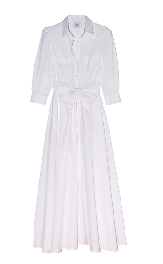 Lori Sheer Shirtdress