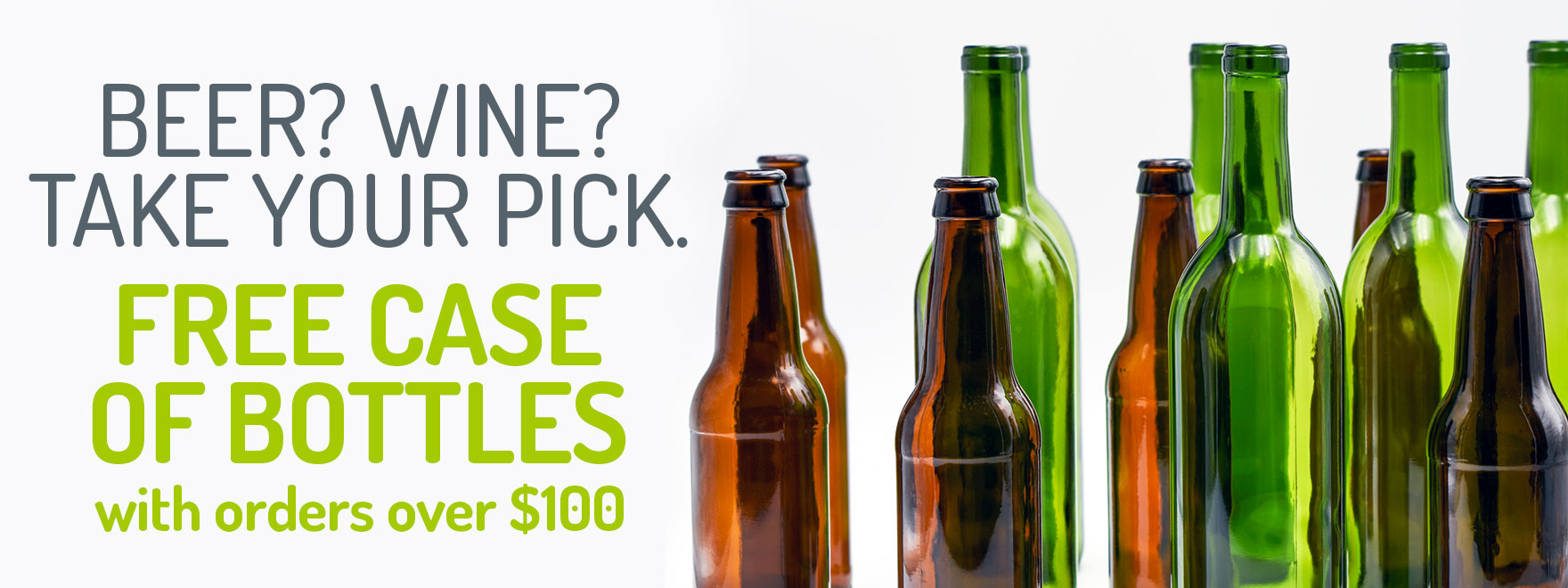 Free Case of Bottles With Orders Over $100
