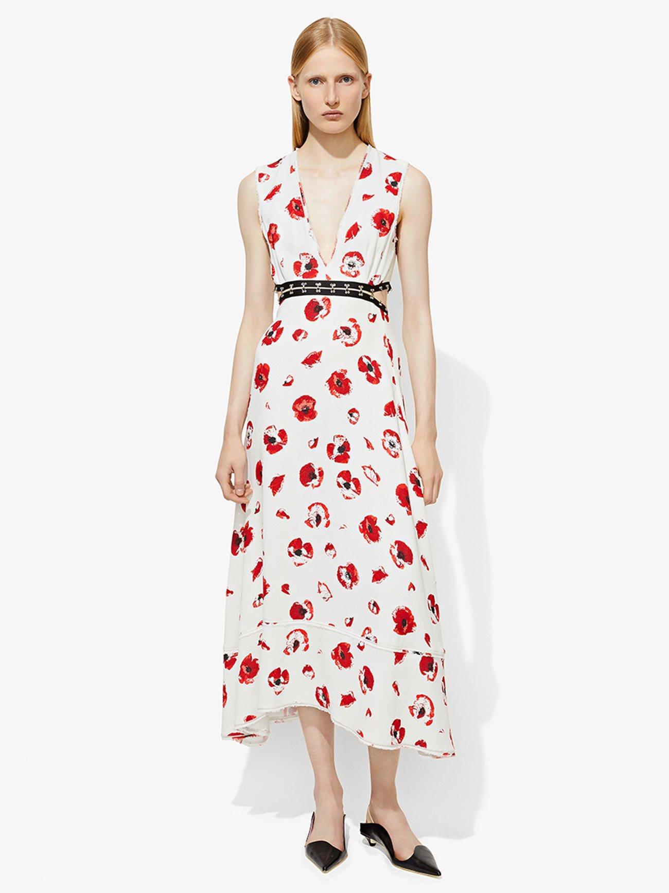 Sleeveless Long V-Neck Dress