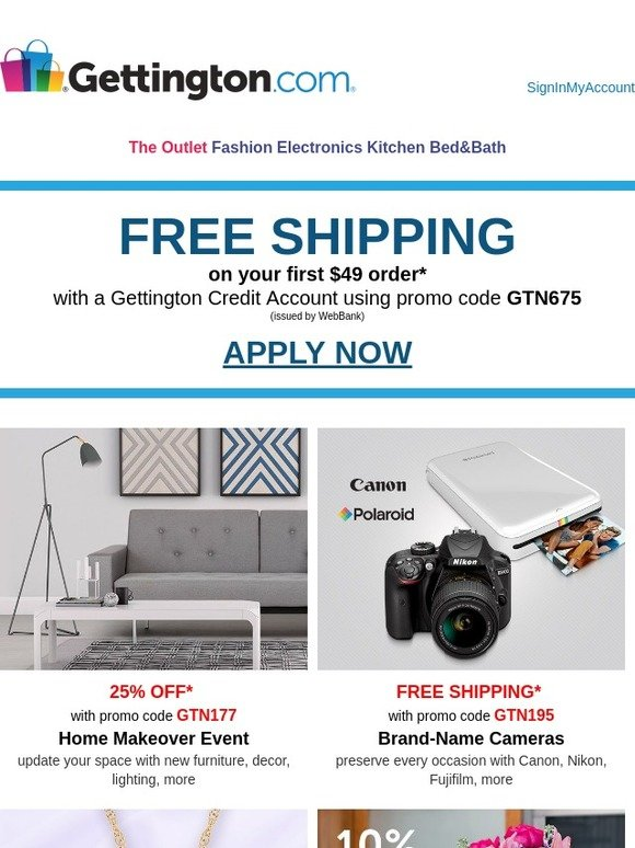 Gettington: 25% OFF home makeover must-haves! | Milled