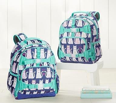 555877af7b24 Mackenzie Navy turquoise Kitty Hearts Backpack