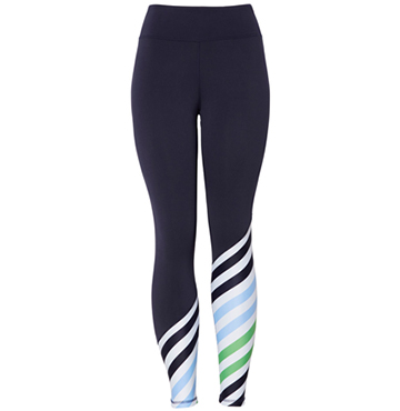 Tory Sport Diagonal Stripe Leggings $138